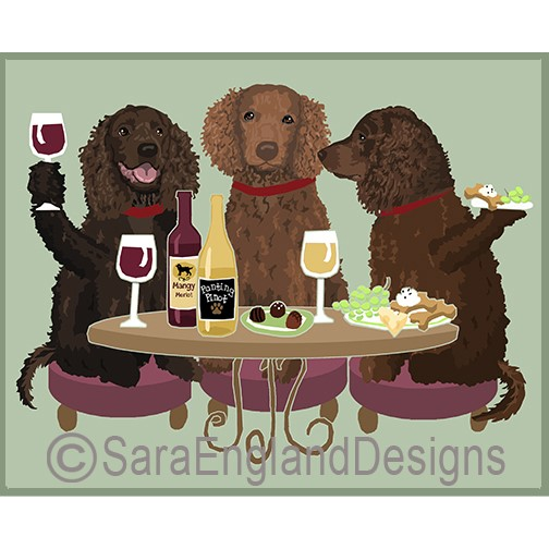 dog wine art print