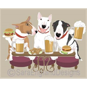 Bull Terrier Art Dog Breed Prints Home Decor Gift Products By - Bull terrier art